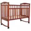 Детская деревянная кроватка Золушка-1 / Цвет Вишня